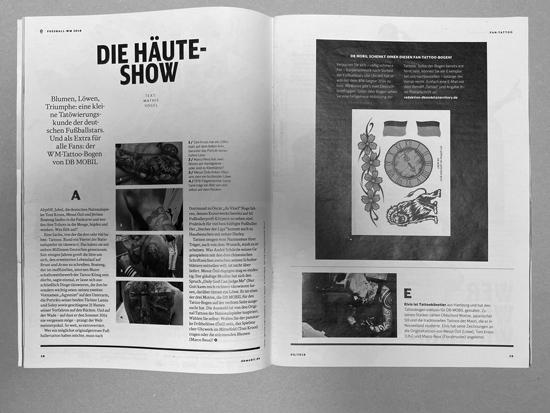 Artikel - DB - Mobil - Ausgabe - Juni Fussball-WM 2018 - Die Häute Show