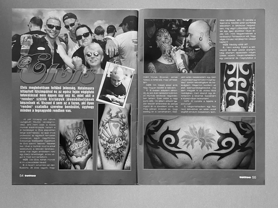 Artikel - MAGAZIN tattoo - Ausgabe - Jan 2003 - Elvis