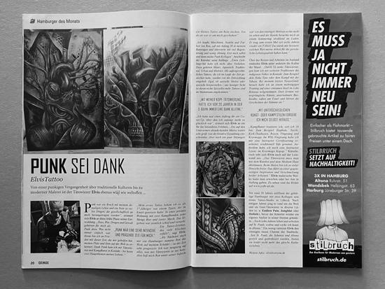 Artikel - OXMOX Hamburgs Stadtmagazin - Ausgabe - Dez 2019 - Punk sei Dank