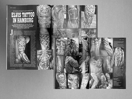 Artikel - Sprit Tattoo - Ausgabe - Aug/Sep 2020 - Elvis Tattoo in Hamburg