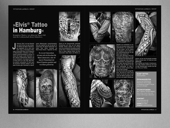 Artikel - Tattoo Jahrbuch - Ausgabe - 2021 - Elvis Tattoo in Hamburg